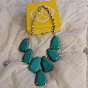 Kendra Scott turquoise Harlow necklace